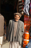 Smiling old Pakistani man,Northern Pakistan Stock Images