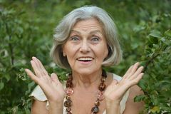 Free Smiling Old Woman Royalty Free Stock Photos - 45332218