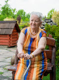 Smiling old woman Stock Photos