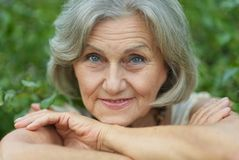 Smiling old woman Stock Image