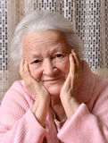 Smiling old woman Royalty Free Stock Photo