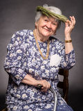 Smiling old woman Stock Photography