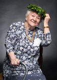 Smiling old woman Royalty Free Stock Photography