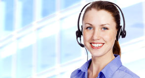Smiling operator Stock Photography