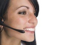 Smiling operator Stock Photos