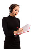 Smiling Operator Woman In A Call Center Stock Photography
