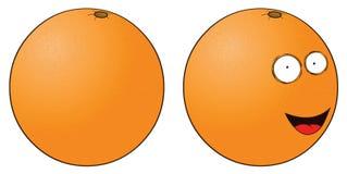 Smiling orange Stock Images