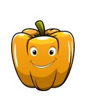 Smiling orange cartoon pepper Royalty Free Stock Photos