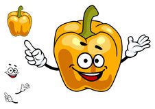 Smiling orange sweet bell pepper vegetable Stock Photography