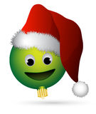Smiling ornament Santa. Christmas ornament with smiling face and Santa Claus hat Royalty Free Stock Photography
