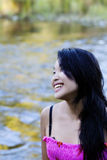 Smiling Outdoor Portrait Of Asian American Woman Royalty Free Stock Photography