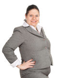 Smiling overweight, fat businesswoman Stock Photography