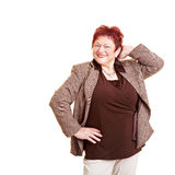 Smiling overweight senior woman Royalty Free Stock Photo