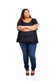 Smiling overweight woman Stock Photos