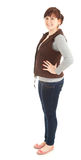 Smiling overweight woman, full length Stock Images