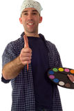 Smiling Painter Royalty Free Stock Images