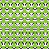 Smiling pandas. Seamless pattern of a smiling cute pandas Stock Photography