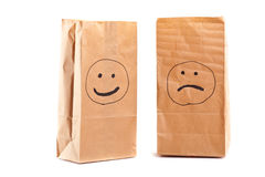 Smiling paper bag. Concept. Royalty Free Stock Image