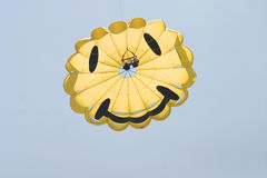Smiling parasail Royalty Free Stock Images