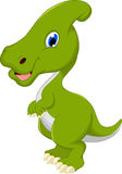 Smiling Parasaurolophus cartoon posing Stock Images