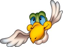 Smiling parrot. Flying bird 17 - High detailed and coloured illustration - Smiling parrot Royalty Free Stock Photography