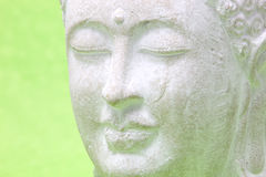 Smiling peaceful yoga statue, close up Stock Photos