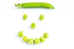 Smiling peas face Stock Photo