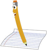 Smiling Pencil. A cartoon drawing of a smiling pencil Royalty Free Stock Photography