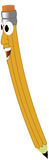 Smiling Pencil. A cartoon drawing of a smiling pencil Stock Photo