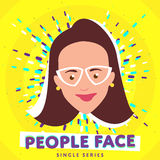 Smiling people face Stock Image