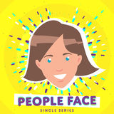 Smiling people face Stock Images