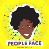 Smiling people face Royalty Free Stock Image
