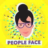 Smiling people face Royalty Free Stock Photo