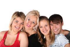 Smiling people faces stock photography