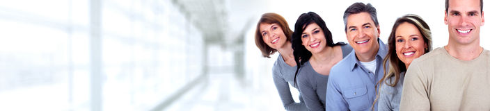 Smiling people faces royalty free stock image