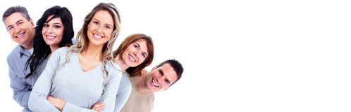 Smiling people faces royalty free stock images