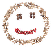 Smiling pepper face Stock Photos