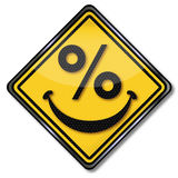 Smiling percent face Stock Images