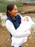 Peruvian mother holding her baby Royalty Free Stock Photo