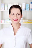 Smiling pharmacist. Stock Images