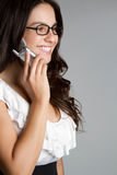 Smiling Phone Woman Royalty Free Stock Image