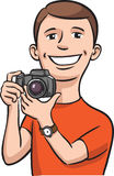 Smiling photographer Royalty Free Stock Image
