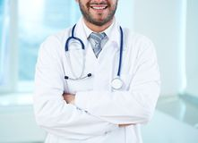 Smiling physician Stock Photography