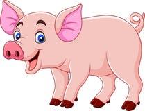 Smiling pig cartoon. Illustration of Smiling pig cartoon vector illustration