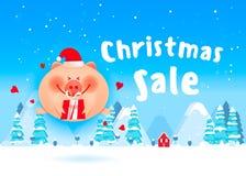 Christmas winter landscape background. royalty free stock image