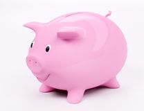 Smiling piggy bank 3d. Happy smiling piggy bank 3d render Stock Images