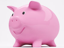 Smiling piggy bank 3d Royalty Free Stock Image