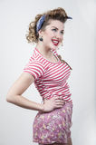 Smiling pin-up girl Royalty Free Stock Photos