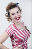 Smiling pin-up girl Royalty Free Stock Image