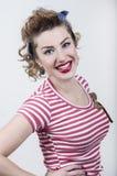 Smiling pin-up girl Royalty Free Stock Image